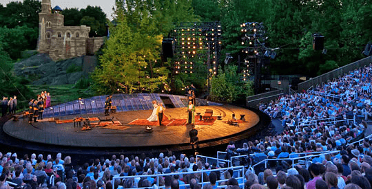 Delacorte Theater in Central park