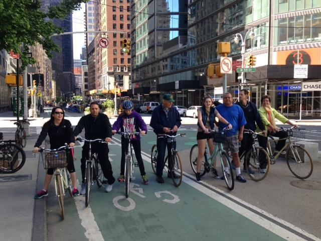 Group Central park bike tour
