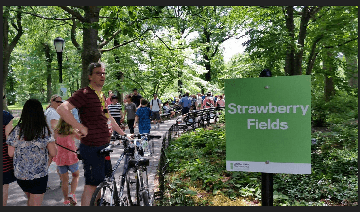 Strawberry Fields garden and memorial in Central park