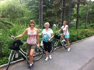 Bike tours in Central park and Manhattan