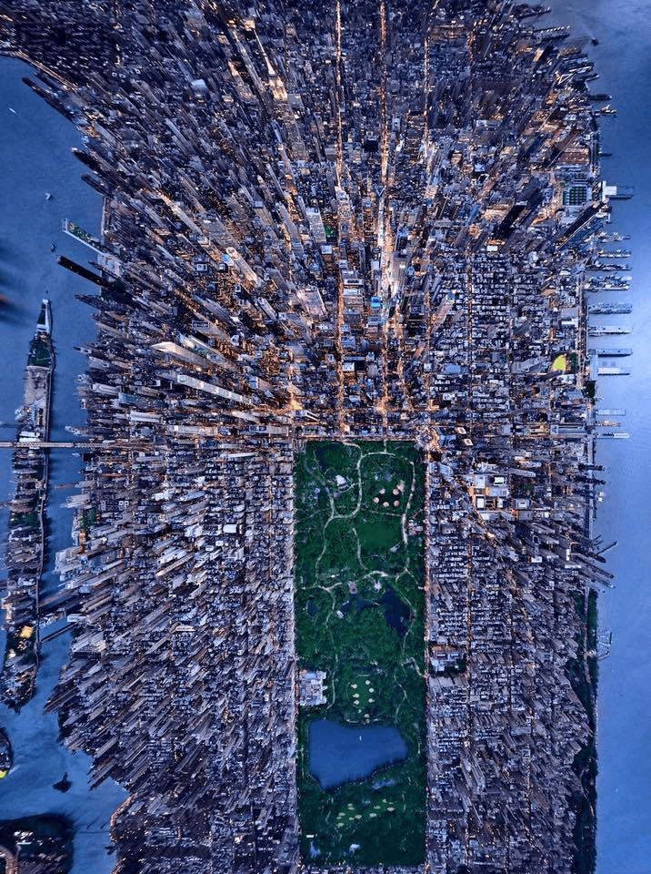 Central Park and Manhattan - view from above