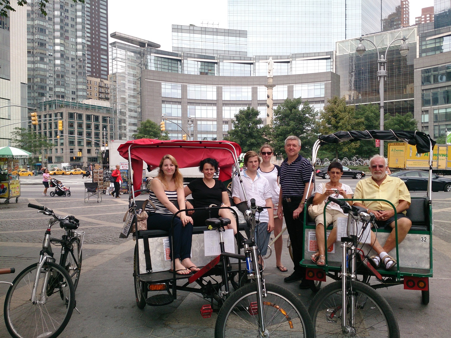 Combined bike and pedicab tour